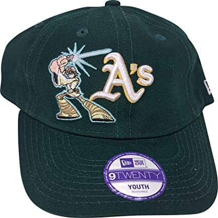 f614d4e3 Image Unavailable. Image not available for. Color: New Era Oakland Athletics  Youth 9TWENTY Adjustable Hat
