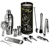Mixology Bartender Kit: 12-Piece Bar Set For an Awesome Drink Mixing Experience - Bartending Bar Tools w/Large Capacity Cocktail Shaker - Bonus: 1- Gorgeous Recipe Catalog 2- Premium Cocktail Picks