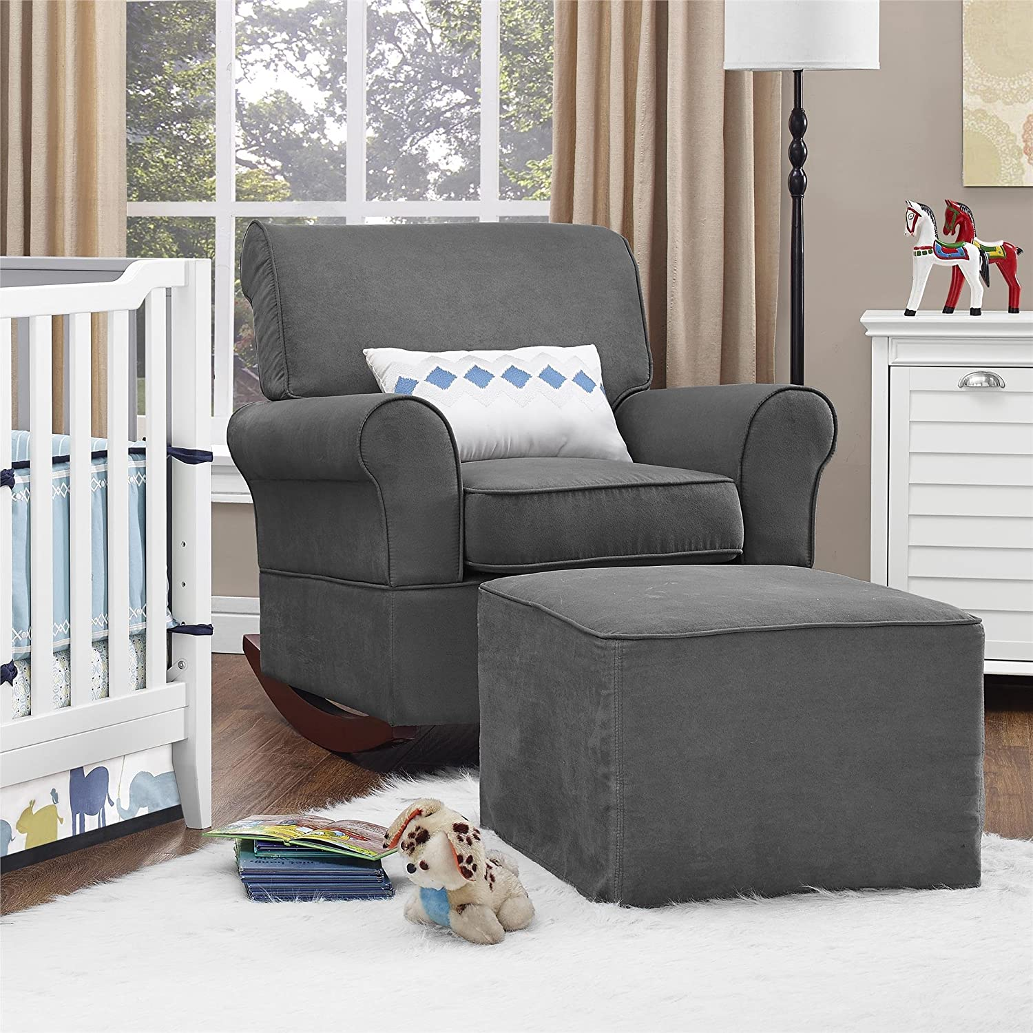 Amazon Baby Relax The Mackenzie Microfiber Plush Nursery