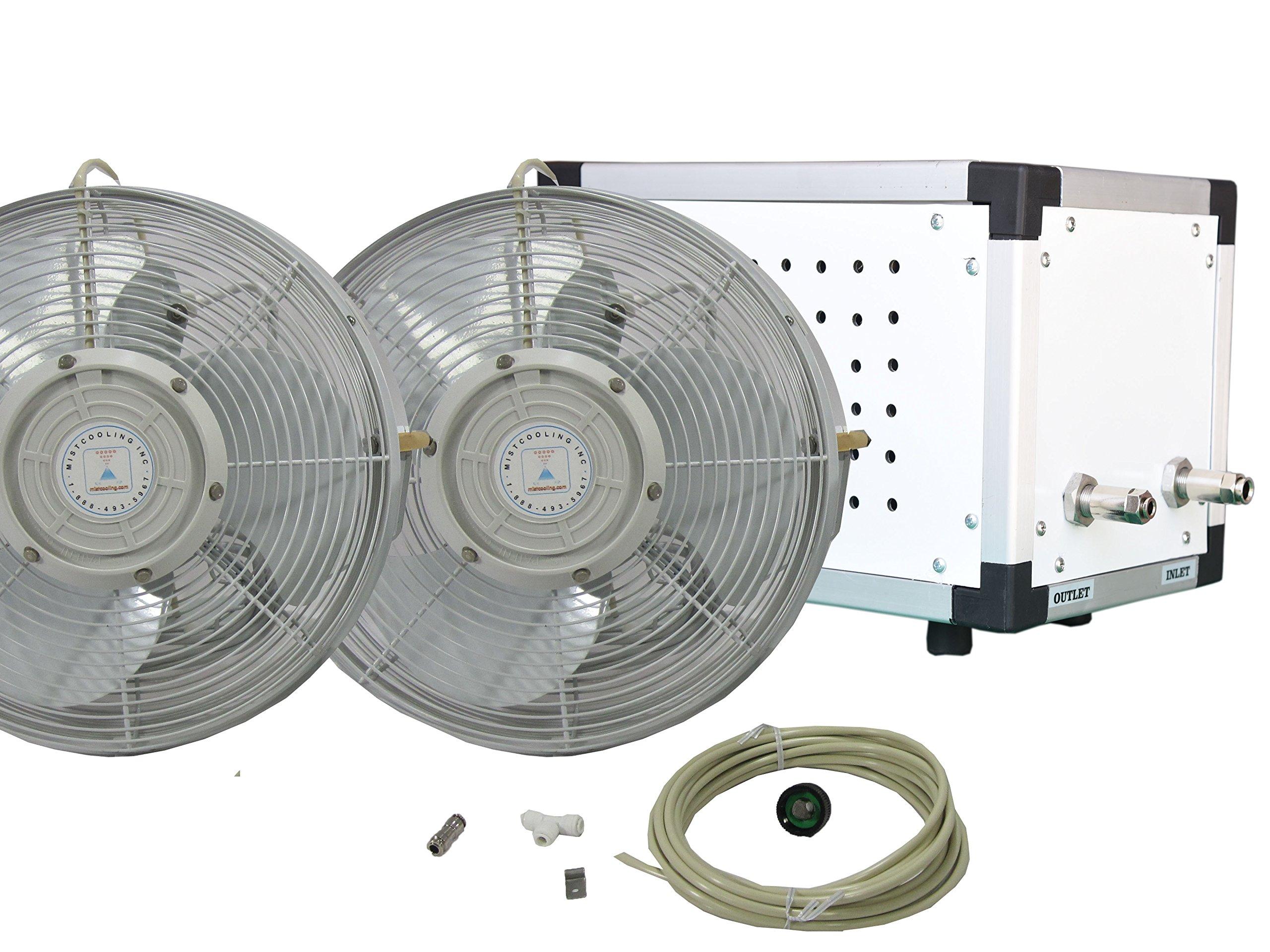 30'' OSC Misting Fan Kit - Mid Pressure (2 Fans)