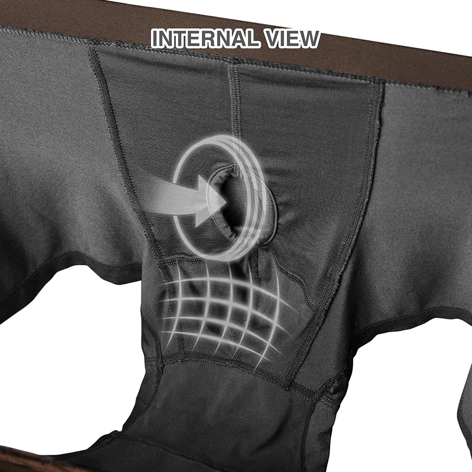 Separatec Mens Boxer Briefs with Separated Pouches Bamboo Rayon Underwear Breathable and Soft Trunks with Fly 3 Pack Fitted Undershorts