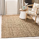 Natural Fiber Collection Hand Woven Natural Jute Area Rug Basketweave Natural Seagrass Rug for Home Décor (2x3 feet)