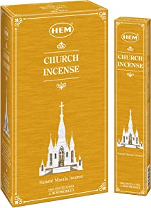 HEM Catholic Church Masala Incense Sticks - Used for Orthodox Church Incense - Hand Crafted in India - Pack of 12 - 180g