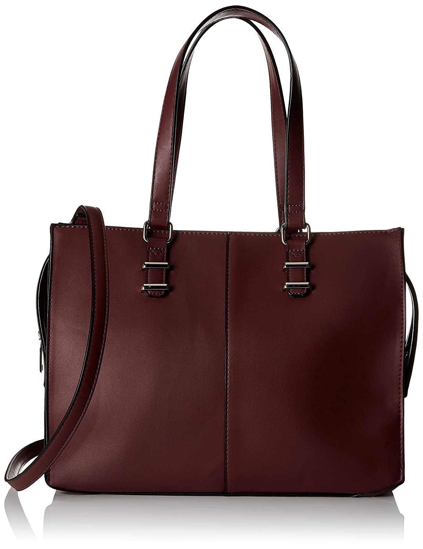 Pimkie Sac cabas rigide faux cuir rouge bordeaux Femme 916385331A03