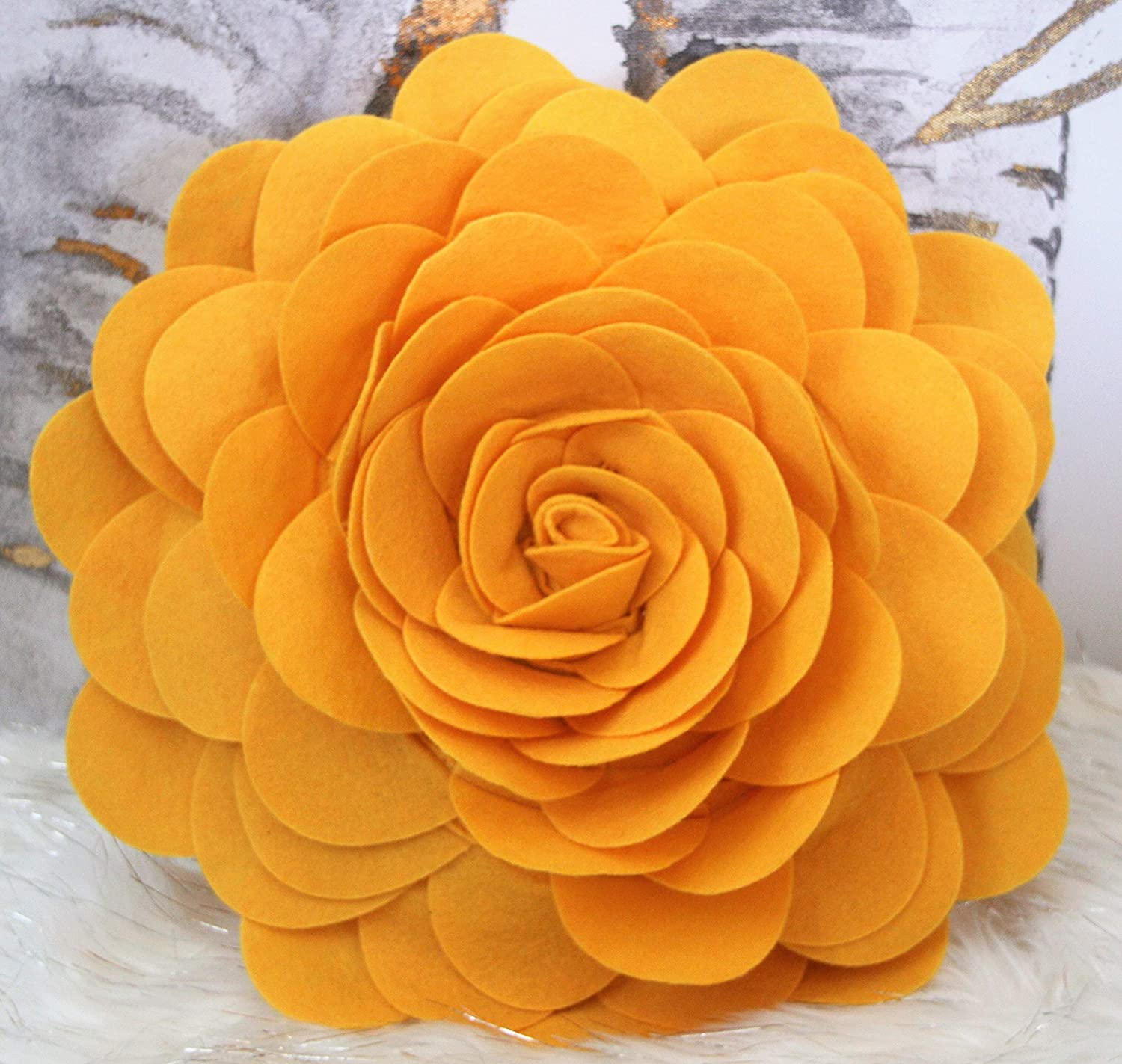 Flower Pillows – 3D Rose Pillow – 14.5