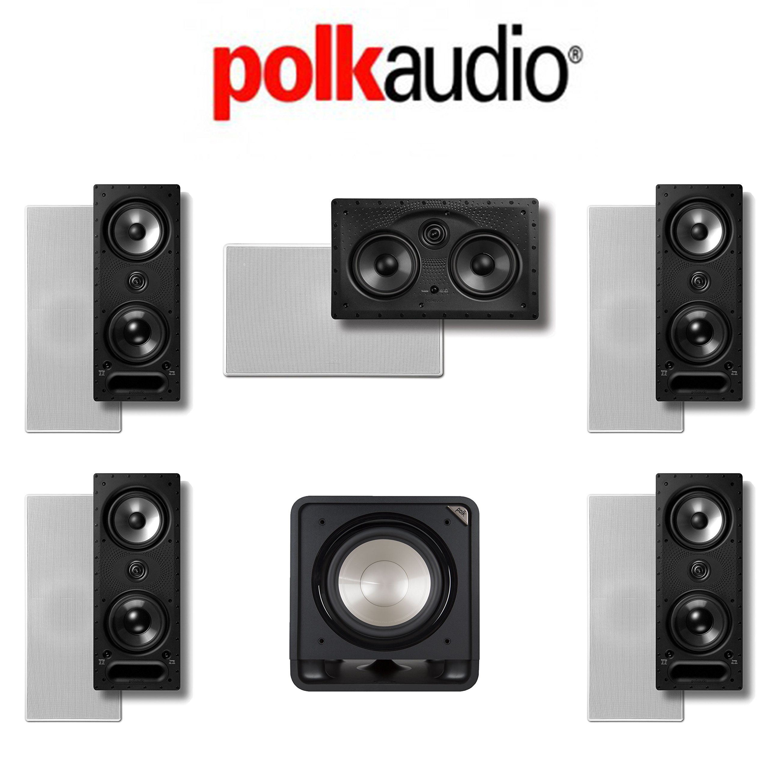 Polk Audio 265LS 5.1 Vanishing Series In-Wall Home Theater System (265-LS + 255C-LS + HTS12)