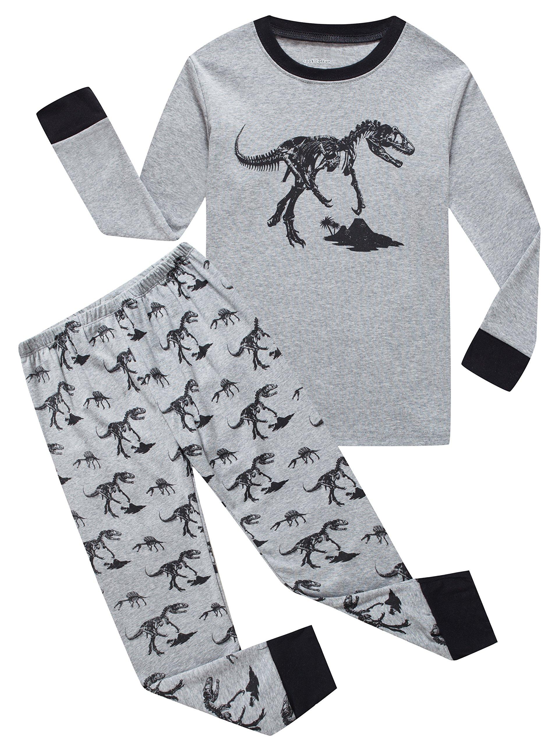 940da544faff Galleon - IF Pajamas Dinosaur Little Girls Boys Pjs 100% Cotton Long ...