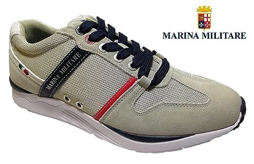 335917b8a7c195 Marina Militare Scarpe Uomo Sneaker CAMOSCIO Blu Plantare MEMRY Foam -  MM318 (42 EU)