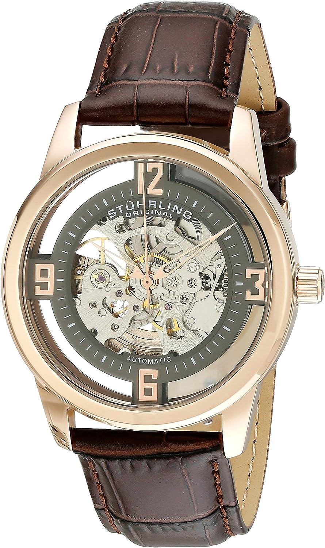 Stuhrling Original Men's 877.05 Winchester Analog Display Automatic Self Wind Brown Watch
