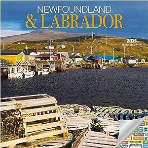 Newfoundland & Labrador Calendar 2021 Bundle - Deluxe 2021 Canada Wall Calendar with Over 100 Calendar Stickers (Canadian Gifts, Office Supplies)
