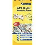 Indre-et-Loire, Maine-et-Loire Michelin Local Map 317 (Michelin Local Maps)
