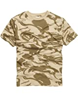 100% Cotton Military Style T-shirt - British Desert Camouflage