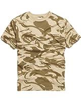 Kids-Youth Military Style T-shirt - British Desert Camo