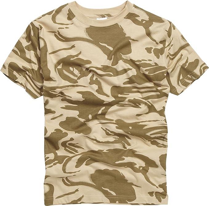 US T SHIRT ARMY MILITARY GREY CAMO 100/% HIGH QUALITY  COTTON