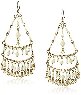 Amazon lucky brand bone color beaded chandelier earrings lucky brand bone color beaded chandelier earrings mozeypictures Choice Image