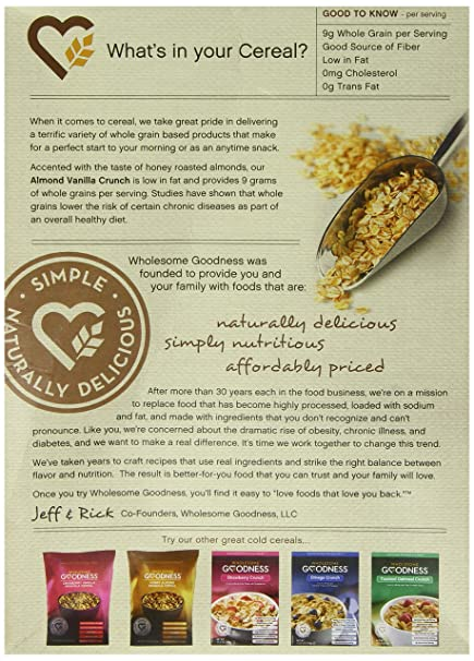 Amazon wholesome goodness cereal toated oatmeal crunch 16 ounce ccuart Image collections