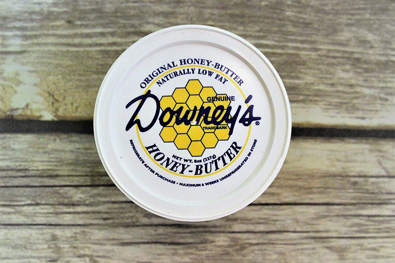 Downey Original Honey Butter, All-natural spread to use as a marinade, or an excellent topping on croissants, ice cream, muffins and baked goods. 8 oz container (Pack of 4)