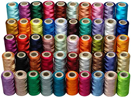 50 Colours Embroidery Machine Thread for Brother Babylock Janome Singer  Pfaff Husqvarna Bernina Machines, 50 colours