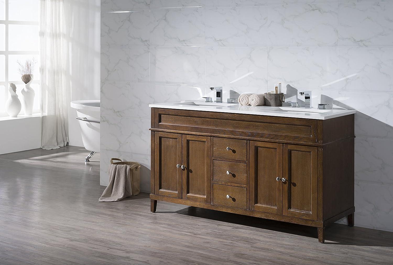 Stufurhome Ty 7615 59 Qz Double Sink Bathroom Vanity Set 59