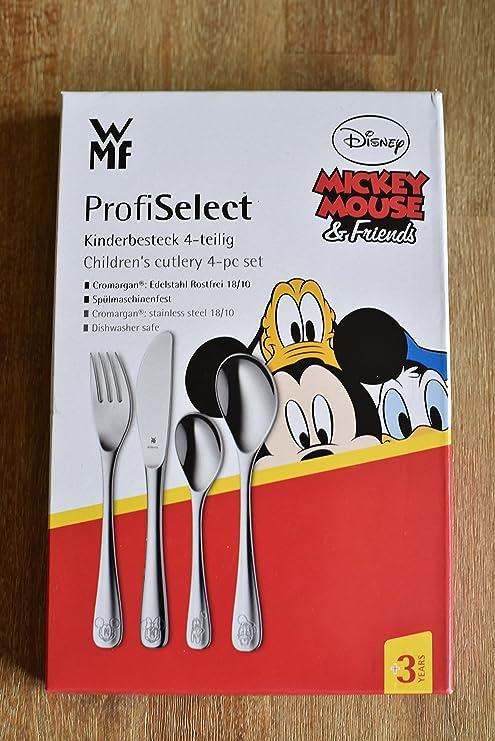 WMF ProfiSelect – Cubertería Infantil (4 Piezas Mickey Mouse