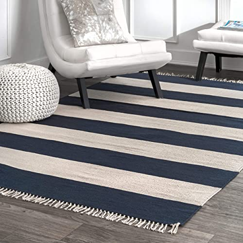 nuLOOM Ashley Striped Area Rug, 4 x 6 , Navy