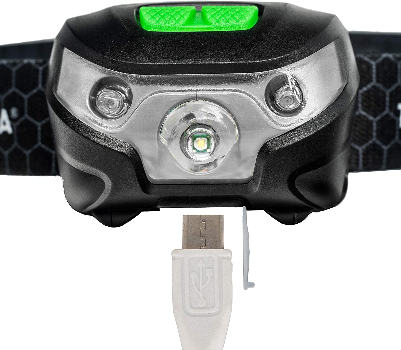 Toolzilla Professional DEL Tête Torche Léger USB Rechargeable Advanced 5