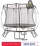 Springfree Trampoline | 8 10 11 13ft | Oval Round Square | Springless Trampolines with Safety Enclosure, Basketball Hoop and Ladder