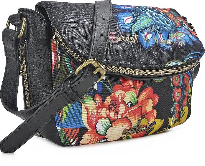 Damen Handtaschen, Umhängetaschen, Crossover-Bags, Crossbodys, Schwarz, 27 x 17 x 7 cm (B x H x T) Desigual