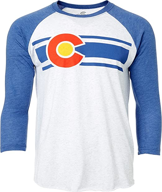 Colorado Limited - Camiseta de Manga de béisbol para Hombre (Azul/Blanco, Talla XL): Amazon.es: Deportes y aire libre