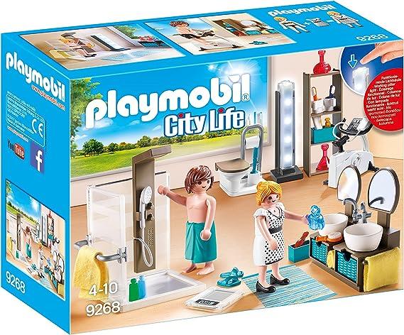 PLAYMOBIL City Life Baño, con Efectos de Luz, a Partir de 4 Años ...