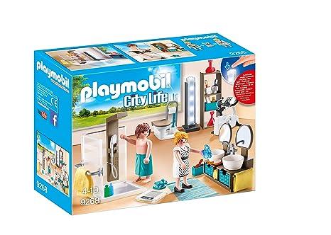 Playmobil Salle De Bain Avec Douche A L Italienne 9268 Amazon Fr