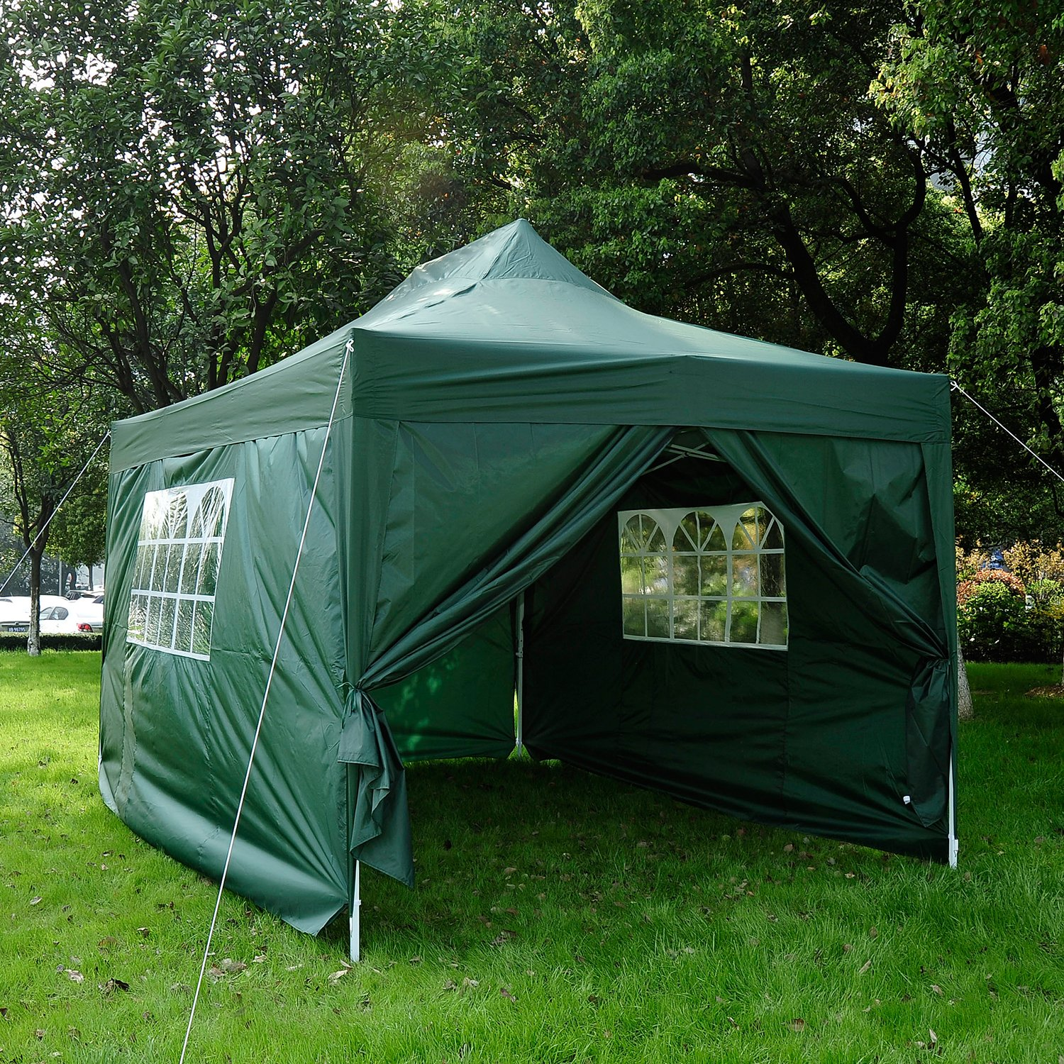 Outsunny 3m X 45m Pop Up Gazebo Party Tent Canopy Marquee Water Resistant Free Storage Bag Green