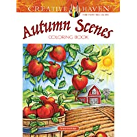Creative Haven Autumn Scenes Coloring Book (Adult Coloring)