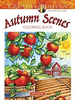 Creative Haven Autumn Scenes Coloring Book Adult