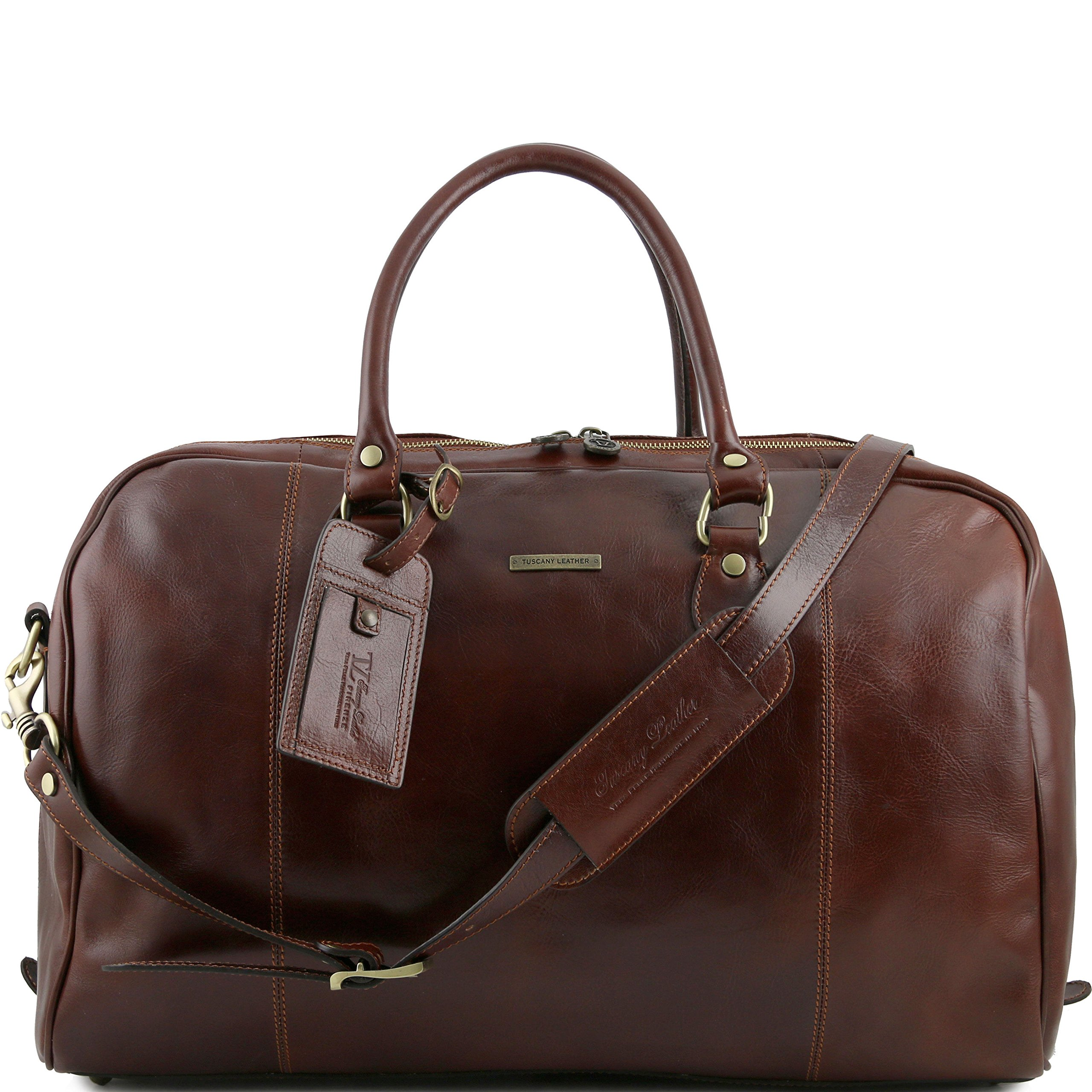 Tuscany Leather TL Voyager Travel leather duffle bag Brown