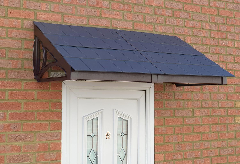 Ritz Door Canopy & Storm Porch (Brown Frame Grey Roof Tiles) Kovertek Limited