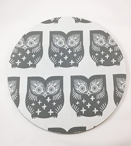 Owls Mouse Pad / Fabric Covered / Office Supplies / Home Office / Decor /  Desk