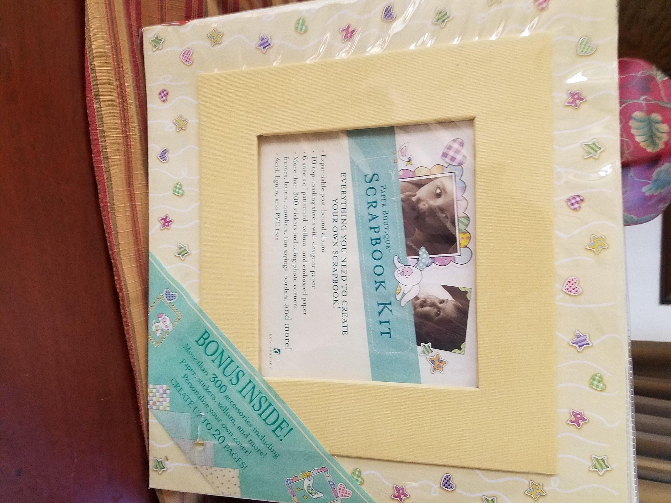 Deluxe Scrapbook Kit - Everything included. Baby/Child Boy or Girl (Kit is Yellow} Huge 14x12.5 inch size
