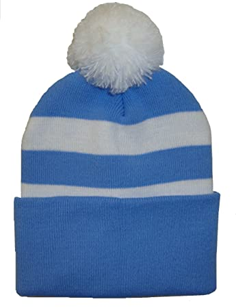 a98ba38b61c Arena Sky Blue and White Bobble Hat  Amazon.co.uk  Sports   Outdoors
