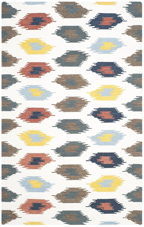 Safavieh Allegra Handgewebtes Flachgewebe Teppich, Wolle & & & Baumwolle, Elfenbein   Mehrfarbig, 91 x 152 cm b1cca0