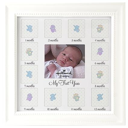 Amazon.com - Hallmark Collectible Photo Frame (Baby\'s 1st Year Wood ...