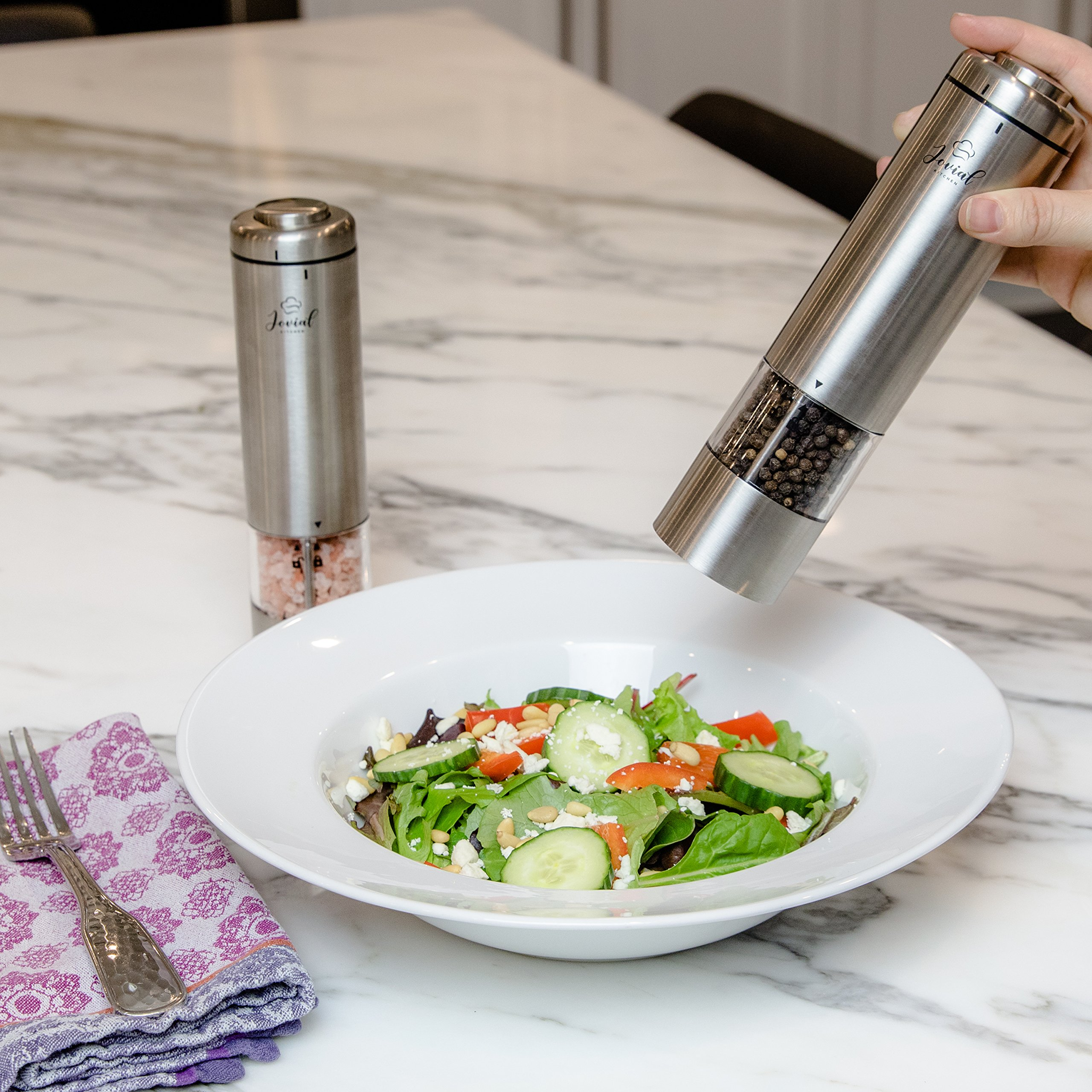 Battery Operated Salt And Pepper Grinder Set Electric