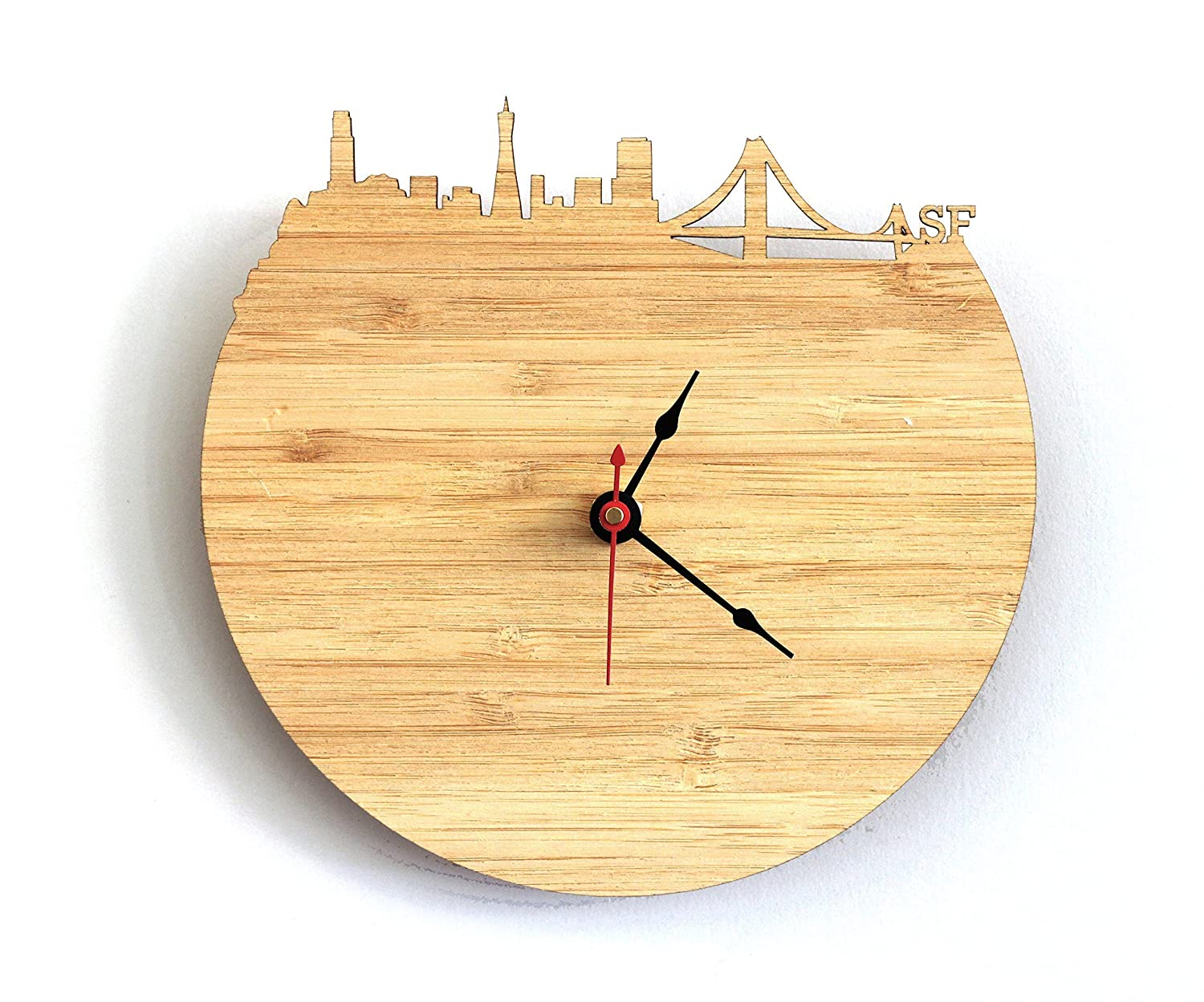 Amazon.com: San Francisco Skyline Clock: Handmade