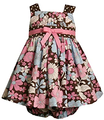 78326e56c2 Amazon.com  Bonnie Jean Baby-Infant Girls 12M-24M Brown Pink Blue ...