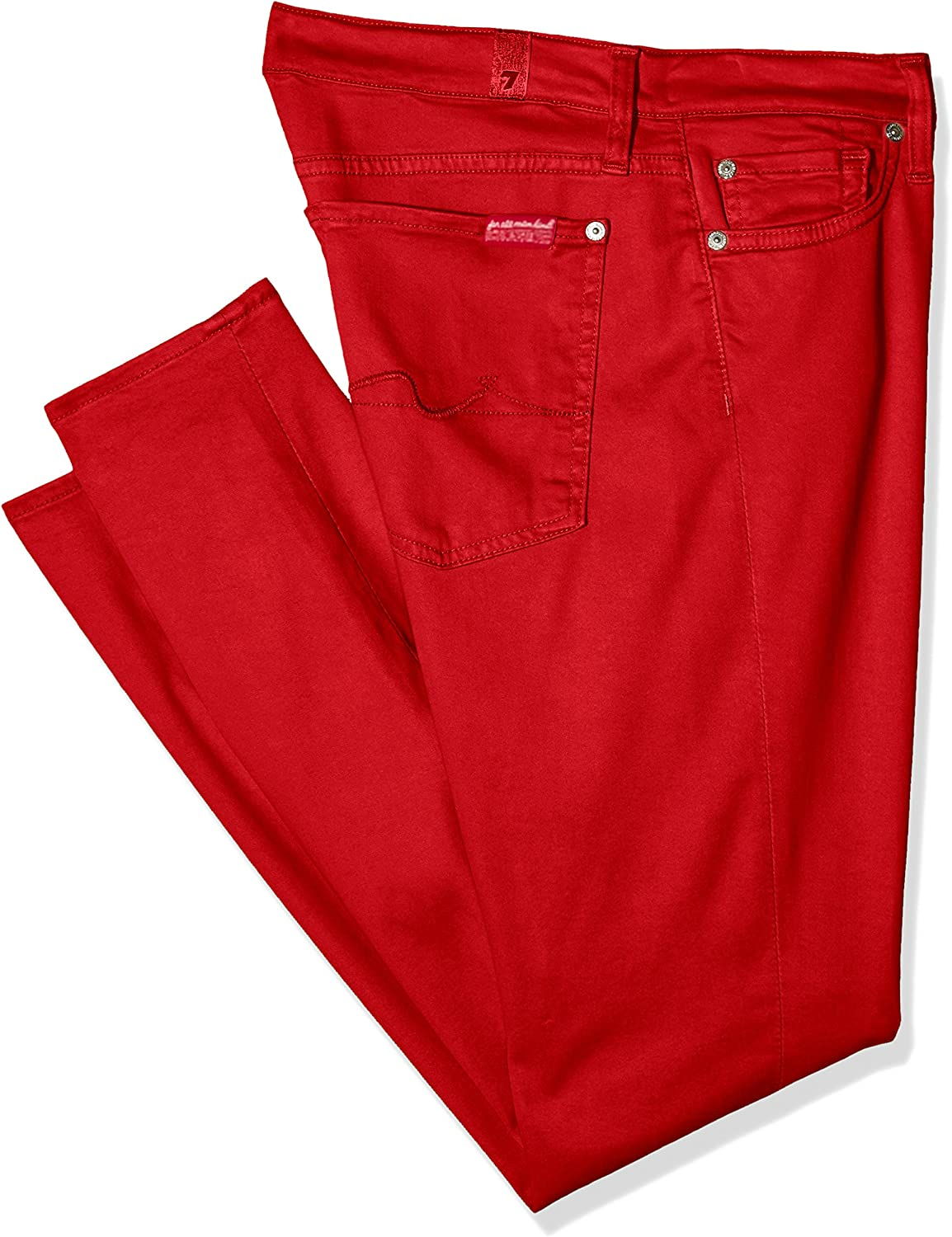 7 For All Mankind Damen The Skinny Crop Jeanshose Rot (Red 0re)