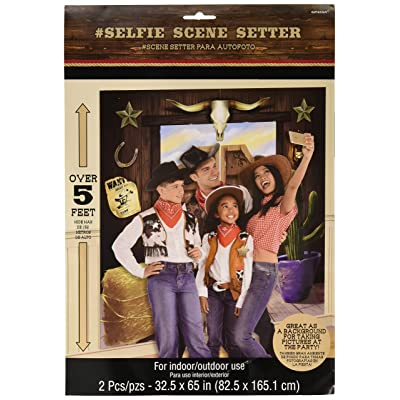Amscan Party Supplies YeeHaw Western Selfie Scene Setter: Toys & Games