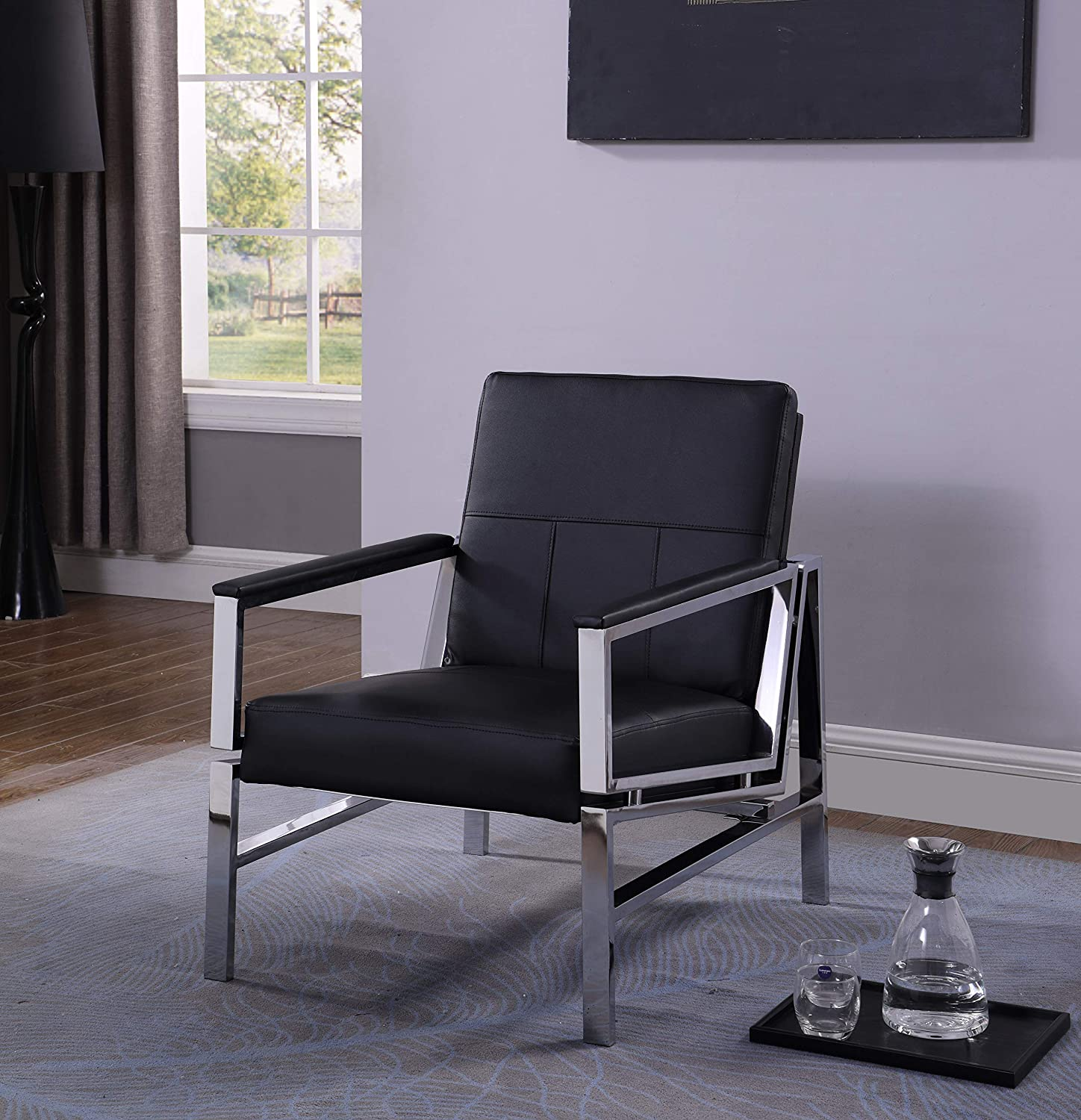 Best Master Furniture Accent Chair Black