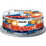 PHILIPS DVD+R 4.7 GB Data/120 min. 16 X Spindle de 25
