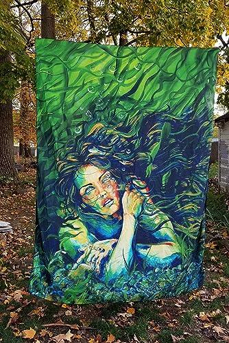 Imagination of Robert Walker Azorie Mermaid Large Art Tapestry