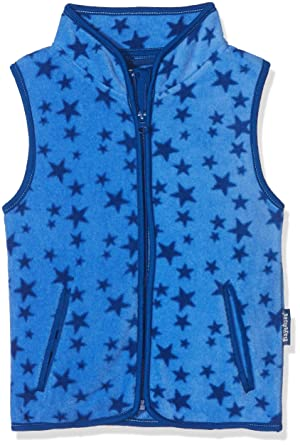 ad465482c Playshoes Girl's Fleeceweste Allover Sterne, Oeko-tex Standard 100 Gilet,  Blue, 9